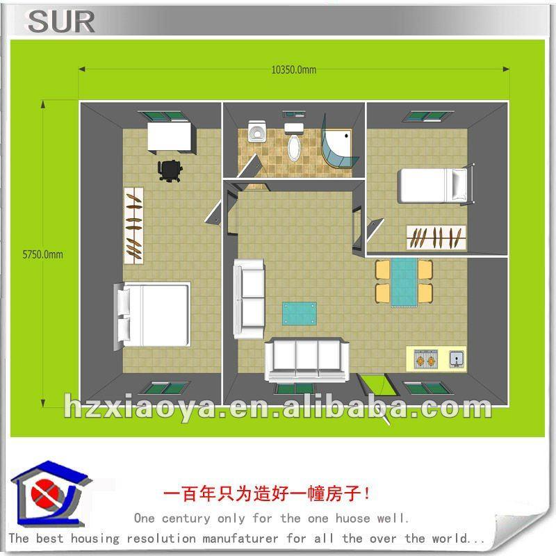 60m2 modular prefab house buy modern prefab house economic modular house modern modular house. Black Bedroom Furniture Sets. Home Design Ideas