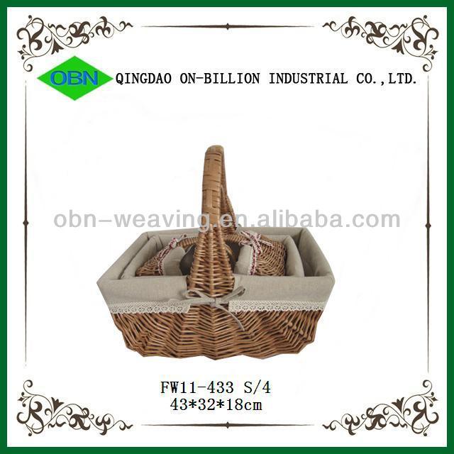 Woven Basket Procedure : Wholesale supermarket wicker storage ping baskets with