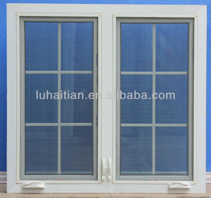 Pvc Manual Hand Crank Casement Window With Mesh Screen