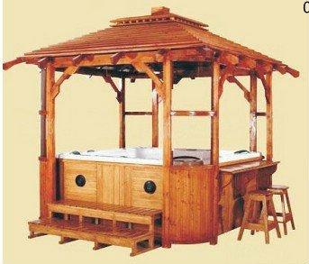 New style outdoor wooden spa gazebo buy outdoor wooden gazebo square wooden gazebo chinese - Whirlpool pavillon ...