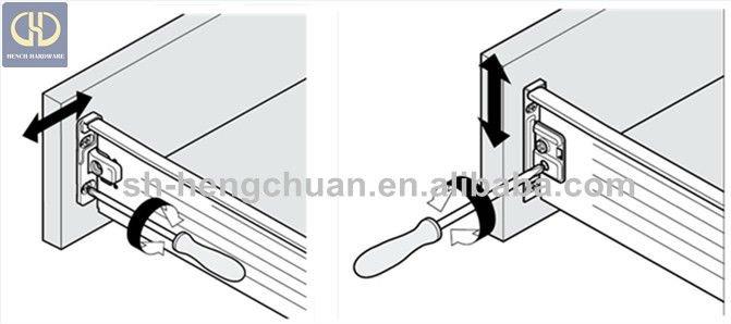 Kitchen Cabinet Metal Box Drawer Slide Parts