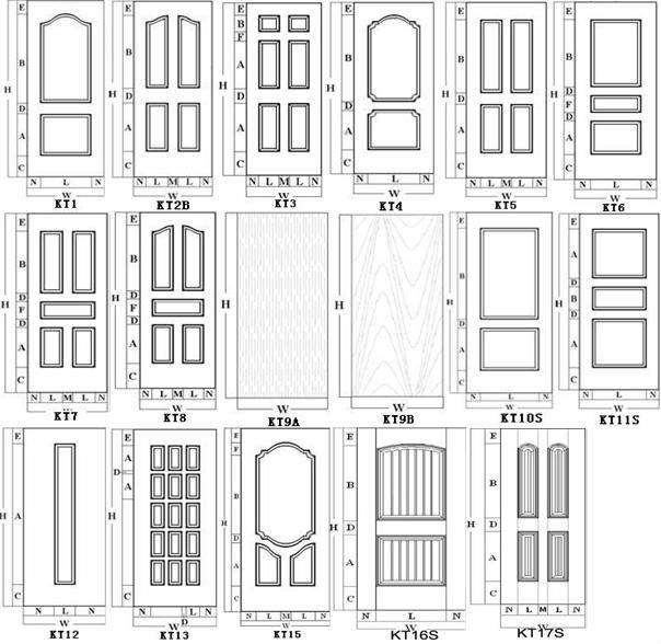 6 panel oak doors