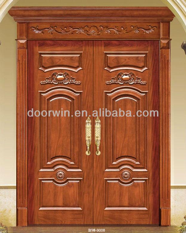 Double swing main entrance wooden door buy main double for Elegant main door designs