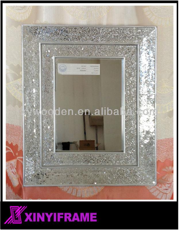 New Design Wooden Mosaic Decorative Hanging Wall Mirror