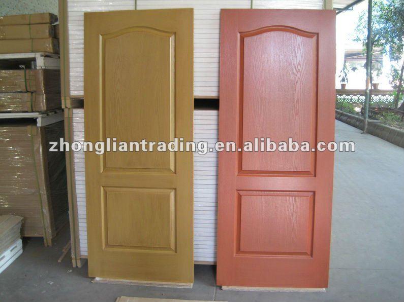 Hollow core interior wood door design