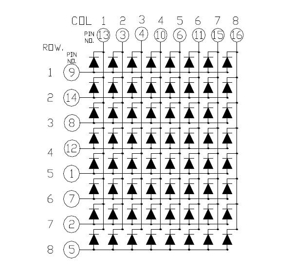 dispaly dot matrix module 8 8 newshine xh