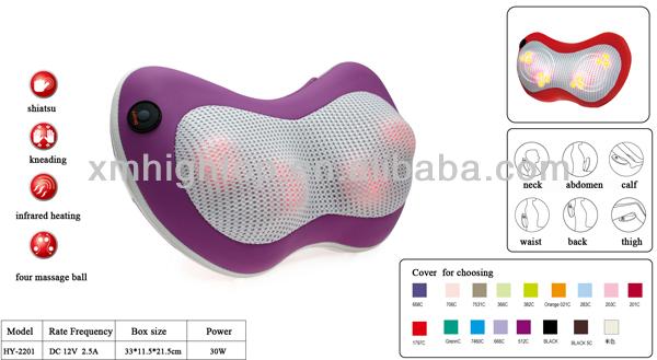 Portable Travel Massager Pillow,Travel Neck Massager Pillow ...