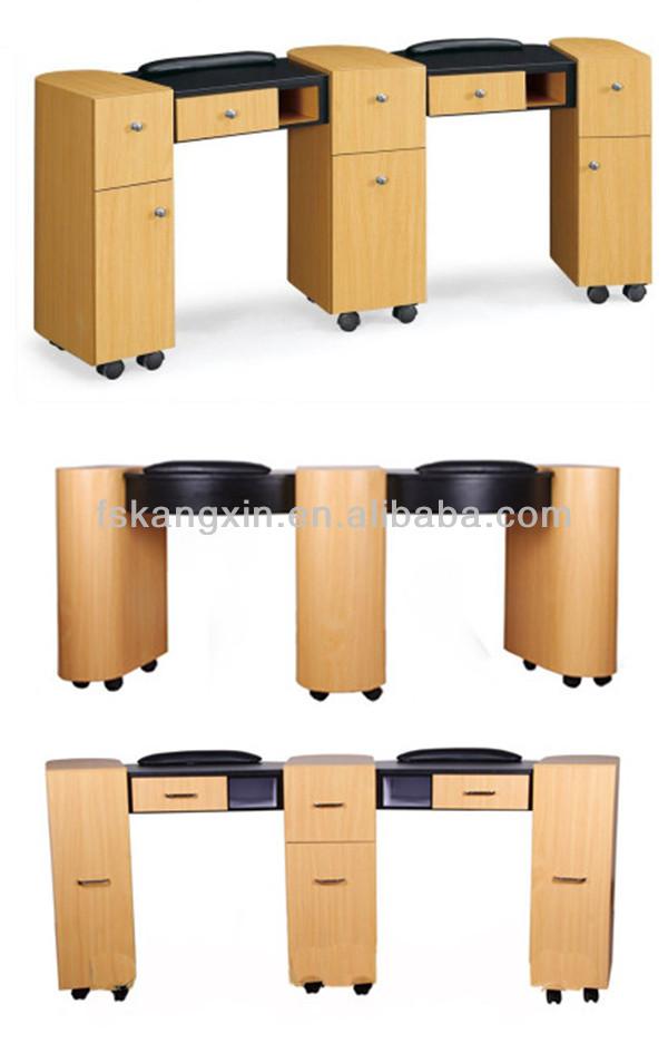 Wholesale double nail technician tables kzm n032 2 buy for Nail technician table