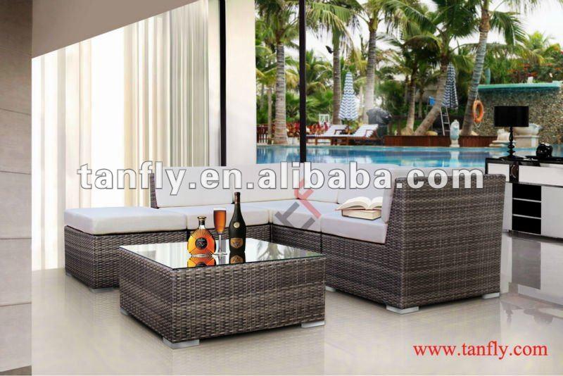 New 2013 modern patio garden wicker furniture sofa set for Sofas mimbre exterior