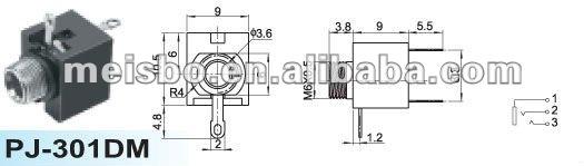 3 5mm Female Stereo Headphone Jack Wiring