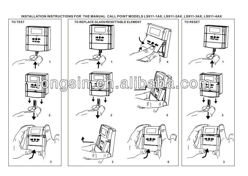 how to reset fire alarm break glass