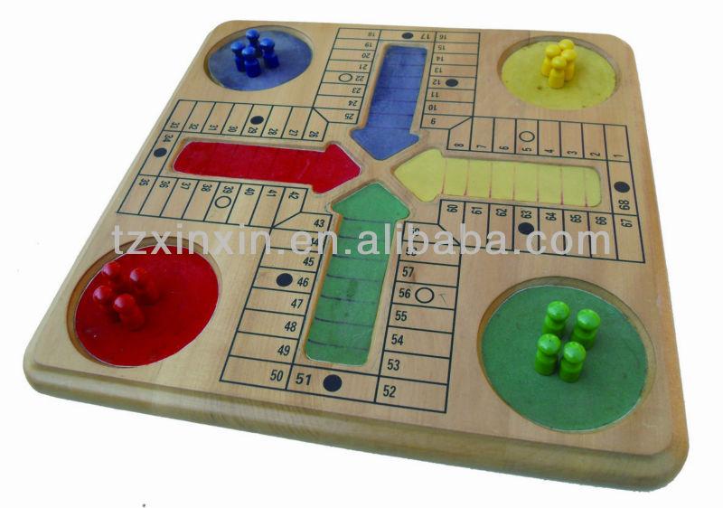 Wooden Ludo Board Game Children Ludo Game Ludo Board Game