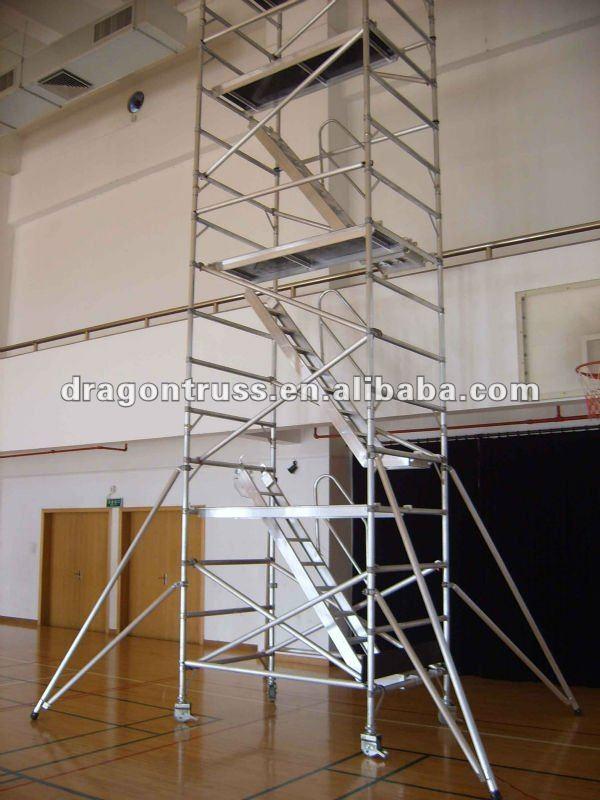 Aluminum Scaffold Stairs : Foldable aluminum scaffold ladder scaffolding