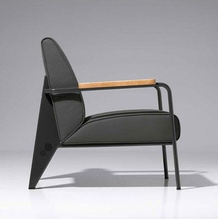 Prouve fauteuil de salon chair replica view prouve for Chaise jean prouve