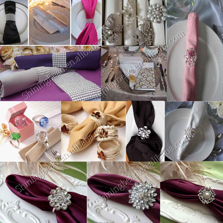wholesale napkin ring diamond gold rings wedding party napkin ring