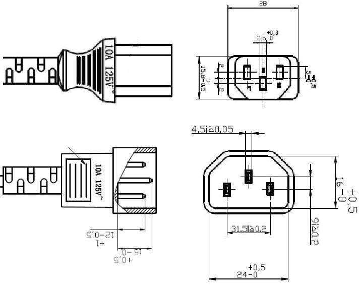 high quality printer  monitor  computer power cable