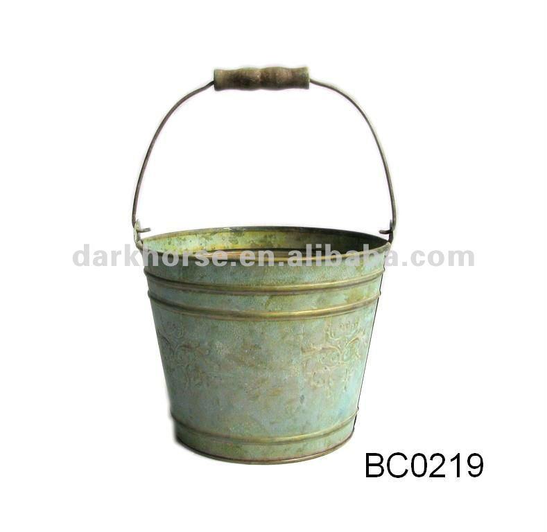 Antique decorative metal bucket buy metal bucket antique for Old metal buckets