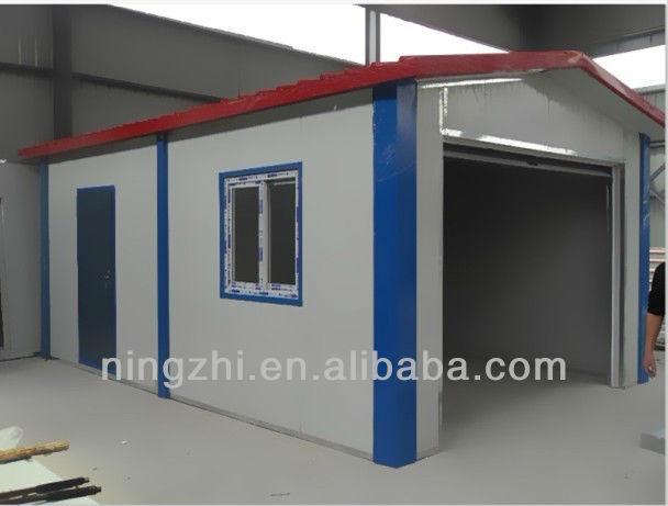 Prefabricated garage made by eps sandwish steel panel for Garage en panneau sandwich