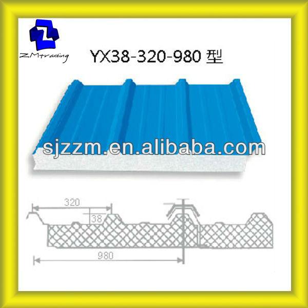 Cad Drawing Roof Sandwich Panels : Eps foam boards metal styrofoam sandwich panel insulation