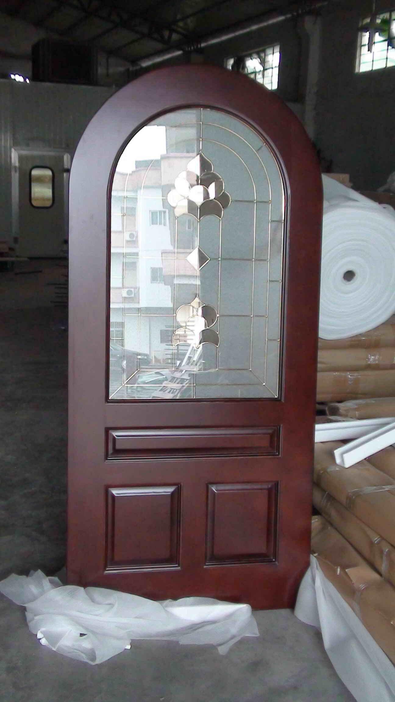 Solid Mahogany Arch Exterior Door Dj S6012m Buy Arch