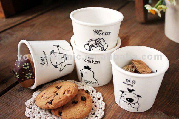 Sheep decal fine porcelain coffee mug milk cup handleless cup view fine porcelain coffee mug - Handleless coffee mugs ...