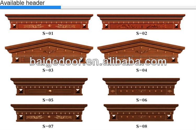 Bg C9017 Imitated Copper Door Villa Garage Doors Metal