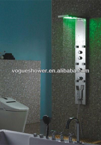 Led Light Rain Shower Head Bathroom Accessories S S Shower Wall Panel S9022 View Led Light Rain