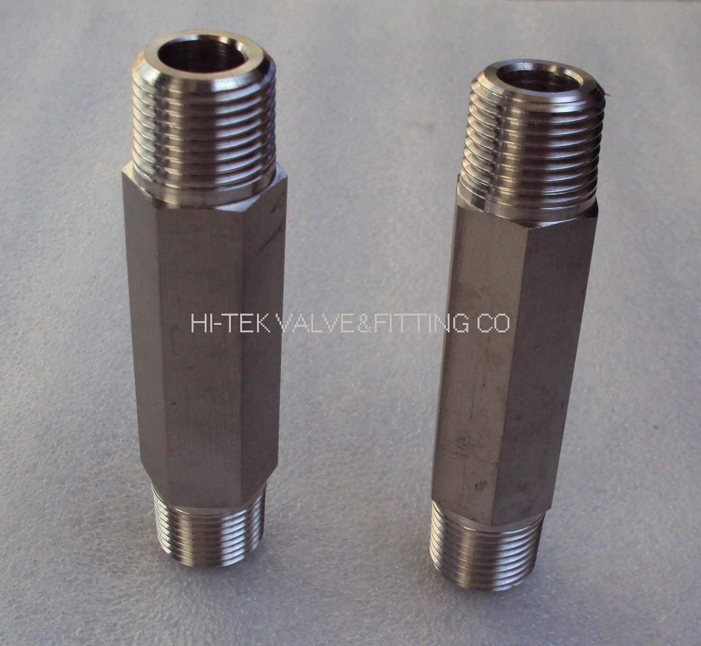 Stainless steel shex long nipple pipe buy
