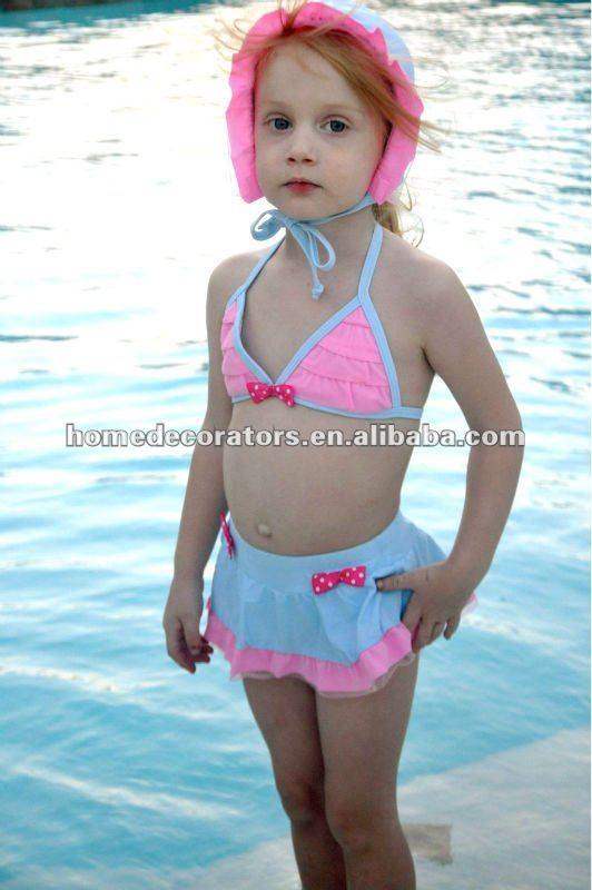 Light Pink And Light Blue Baby Children Swimwear Baby