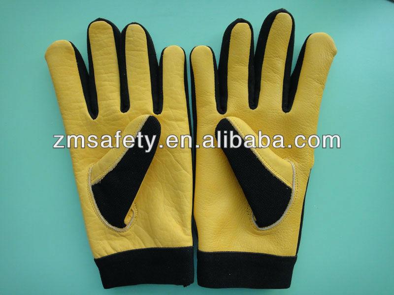 Heavy duty soft touch cow grain leather ladies gardening for Gardening gloves ladies