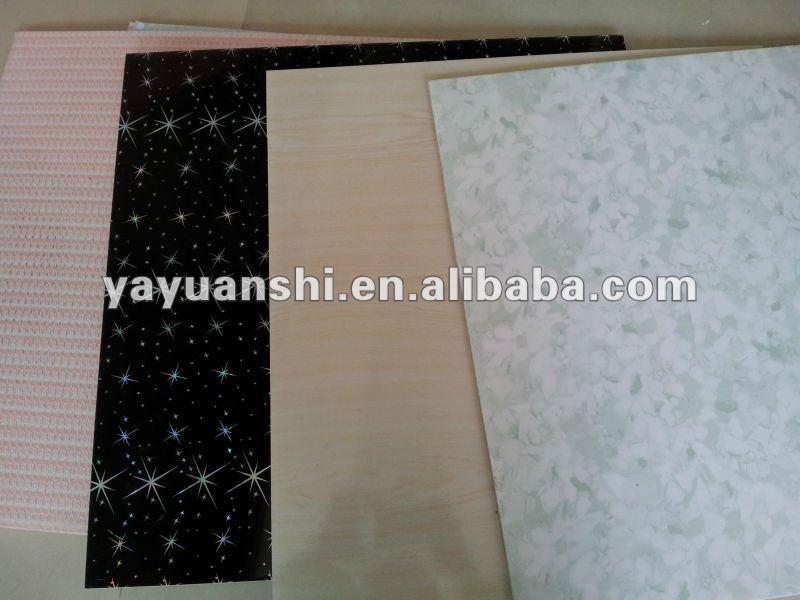 Red Flower Laminate Pvc Ceiling Panel Buy Laminated Pvc
