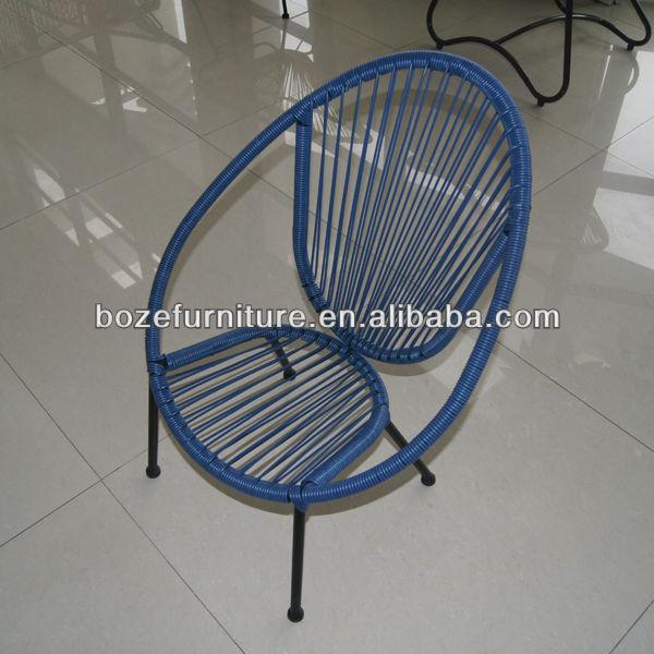 Modern design garden rattan iron for kids garden chairs for Modelos de sillas de hierro
