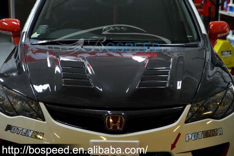 Js Racing Carbon Fiber Hood For Honda Civic Fd2/fd2r - Buy ...