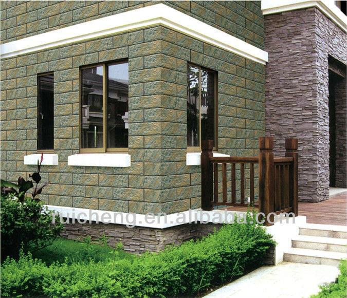 Exterior wall tile 3d decorative wooden design wall tile for Wall tiles exterior design