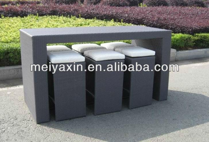 modern outdoor rattan furniture brown used bar stools