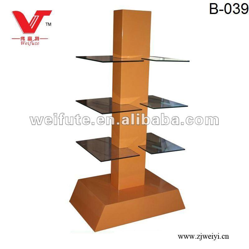 free standing glass display shelves buy glass display. Black Bedroom Furniture Sets. Home Design Ideas