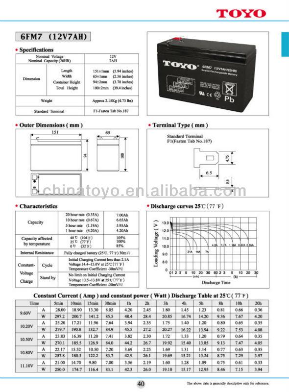 lead- acid rechargeable battery vrla 12v 7ah ups battery