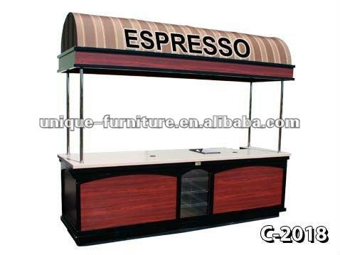 Mobile street food cart kiosk with casters supplier buy for Como hacer un kiosco de madera
