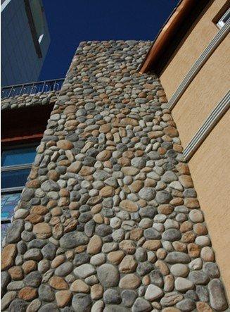 River rock stone wall panel pebble stone wall panel buy for River rock wall