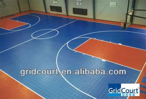 Indoor plastic basketball court flooring view indoor for Indoor basketball court cost