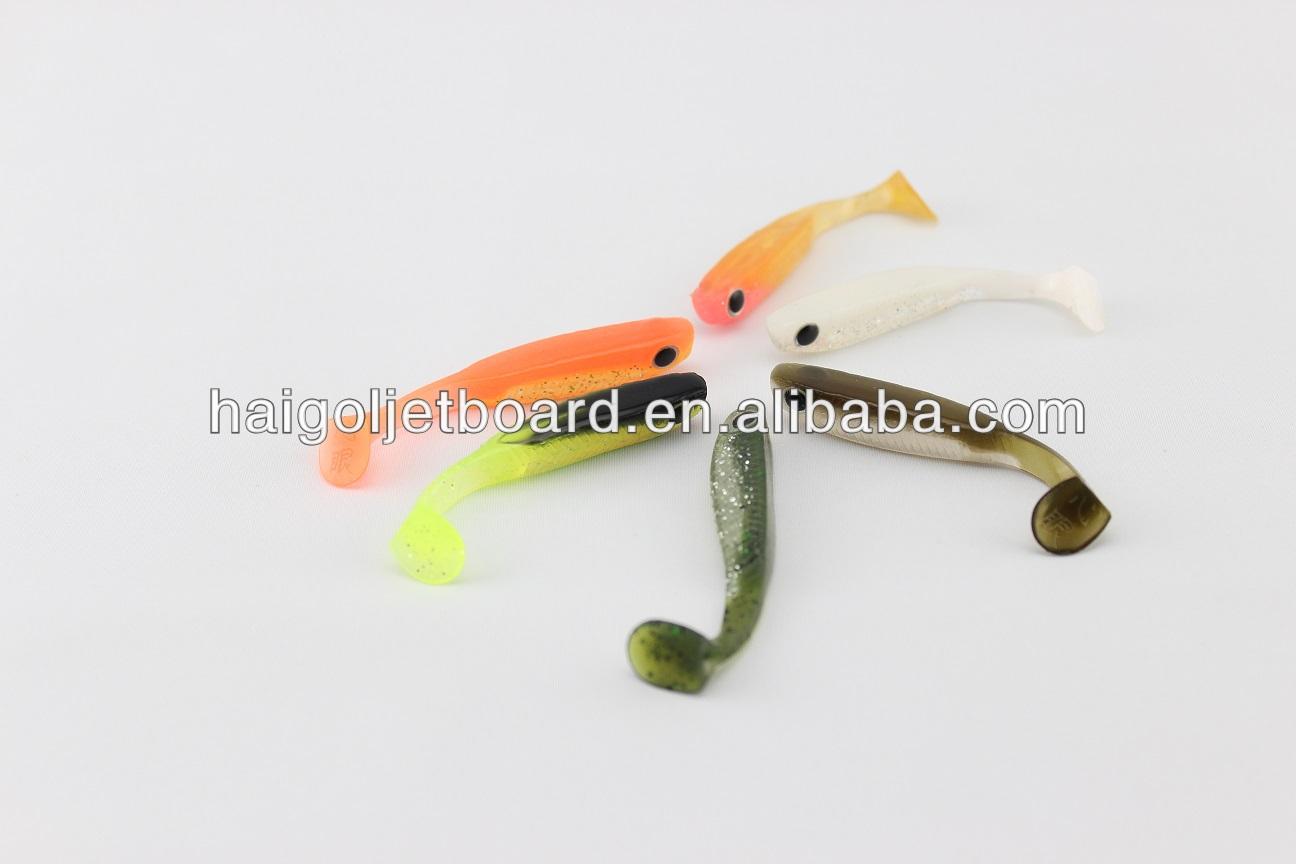 Handpour Pvc Plastic Soft Fishing Lures Soft Baits 3d Eyes