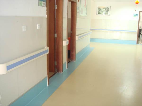 Pvc Wall Handrails : Hospital corridor pvc handrail view wall
