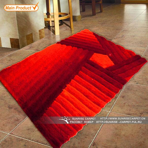 Purple 3D Shaggy Hand Tufted Carpet View Carpet