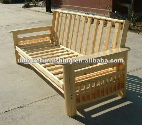 Solid Wood Sofa Bed Futon Frame