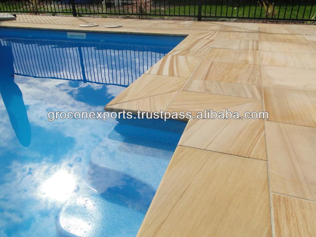 Teakwood Sandstone Pool Coping Buy Pool Coping Swimming Pool Coping Stones Travertine Pool