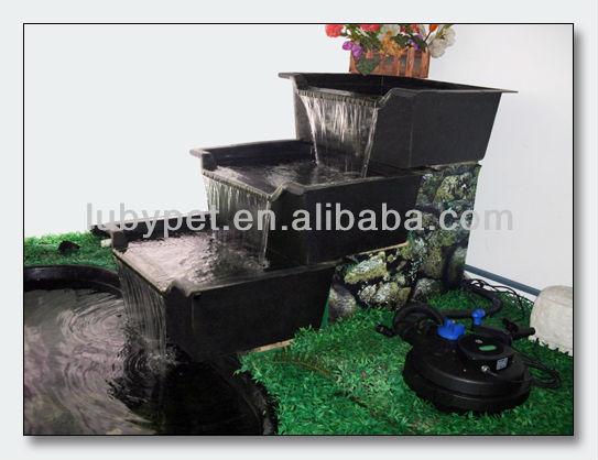 Pond waterfall bowls reservoir waterstream tray for Fiberglass garden ponds