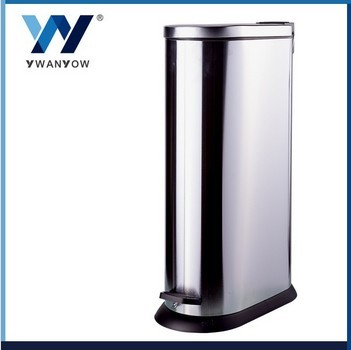Oval stainless steel waste bin waste recycling bin