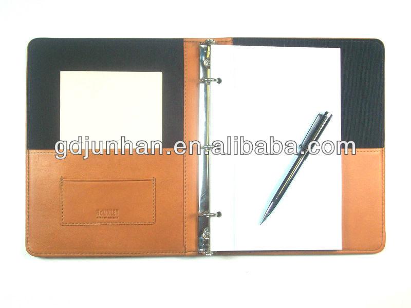 business binder leather resume custom zipper portfolio