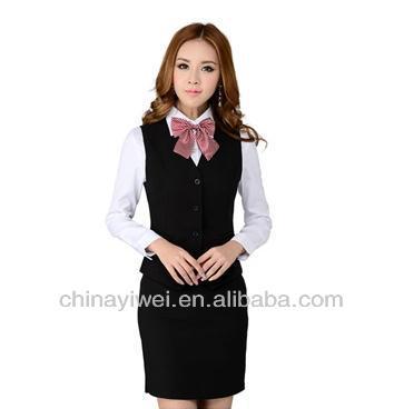 Custom hotel receptionist uniform for front desk staff for Uniform for spa receptionist
