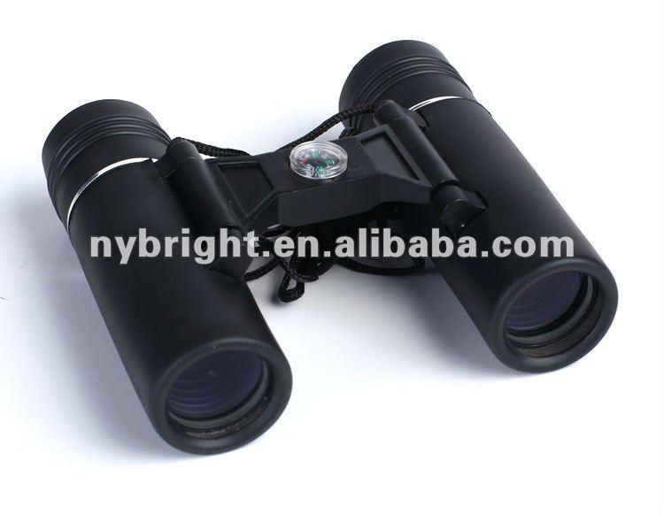8 x 21 mm hitam tetap fokus dengan kompas pengukur jarak teleskop